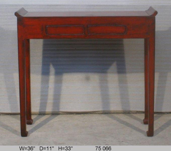 tables console en lacquer rouge avec 2 tiroirs archieven asia antiques. Black Bedroom Furniture Sets. Home Design Ideas
