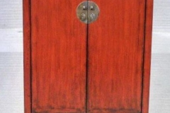 Rood gelakte chinese kast met 2 schuiven archieven asia antiques