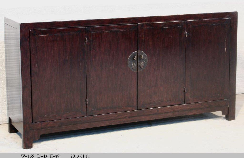 commode en bois d 39 orme avec portes pliables archieven asia antiques. Black Bedroom Furniture Sets. Home Design Ideas