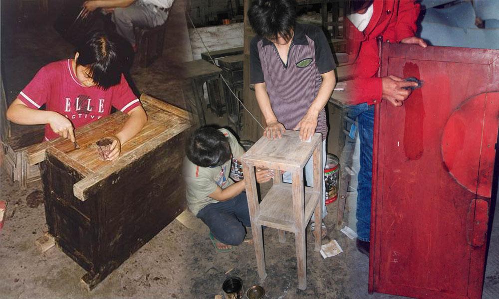 restaureren van Aziatische antieke meubels 02