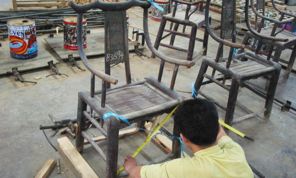 restaureren van Aziatische antieke meubels 04