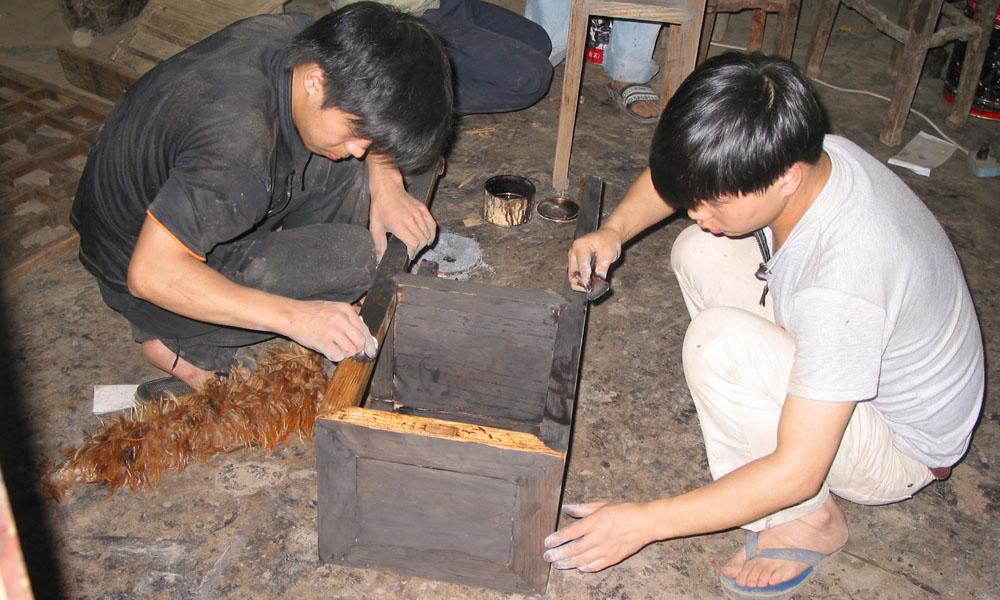 restaureren van Aziatische antieke meubels 06