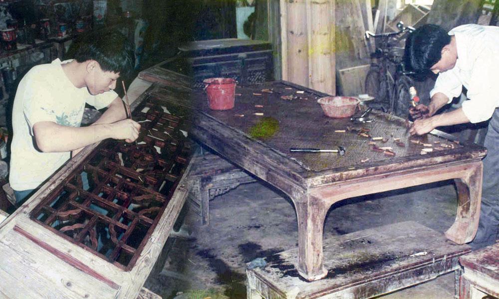 restaureren van Aziatische antieke meubels 07